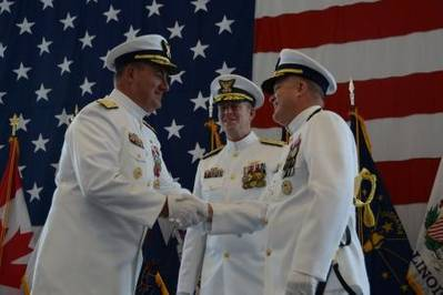 Change of Command Ceremony: Photo courtesy of USCG