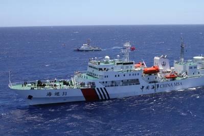 China Coast Guard Cutter: Photo courtesy of USN