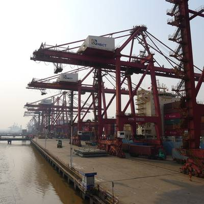 China's Ningbo container port (Photo courtesy UNNC)