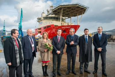 Christening of Deep Orient: Photo credit Technip