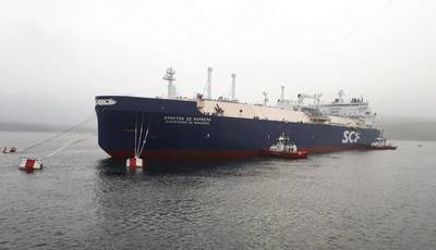 Christophe de Margerie, an icebreaking LNG carrier owned and operated by SCF Group (Photo: SCF Group)