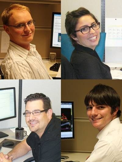 clockwise from top left: Samuel Waterhouse, Luisa Malabet, Michael LaRose and Joseph Dupont