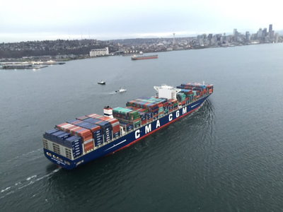 CMA CGM Benjamin Franklin (Photo: Northwest Seaport Alliance)