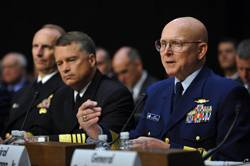 Coast Guard Commandant Adm. Bob Papp testifies on at the Senate Committee Senate Committee on Foreign Relations at a hearing on the Law of the Sea Convention. U.S. Coast Guard photo by Petty Officer 2nd Class Patrick Kelley.