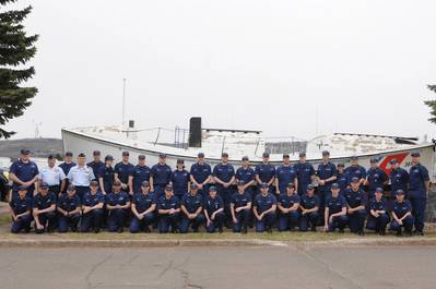 Coast Guard Reservists from Sector Saulte Ste. Marie. Photo credit: US Coast Guard District