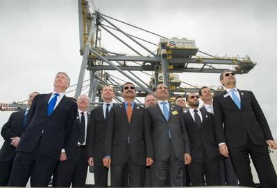 Company Executives Stride Forward: Photo credit DP World London Gateway