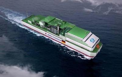 Computer Generated  Image of the Mobile Powership