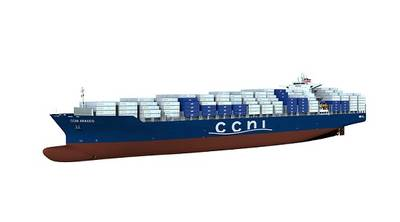 computer rendering of the NSC's new 9,000 TEU series (photo: NSC)