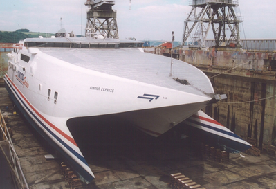 Condor Express: Photo courtesy of A&P Shipyard