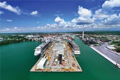Monfalcone Shipyard. (Photo Courtesy FINCANTIERI)