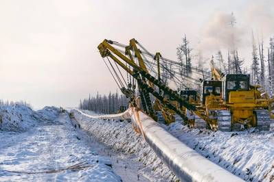Construction of Power of Siberia gas pipeline. Pic: Gazprom