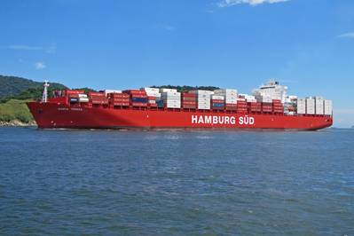 Container Ship Santa Teresa: Photo credit Hamburg Süd