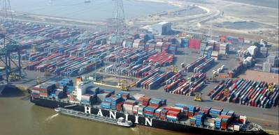 Container Terminal: Photo credit Port of Antwerp