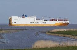 Containership Grimaldi Line: Photo credit Wiki CCL Ra Boe