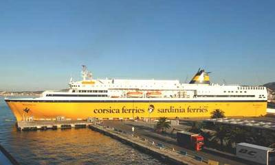 Corsica Ferries' Mega Express Five (Photo courtesy of Corsica Ferries)