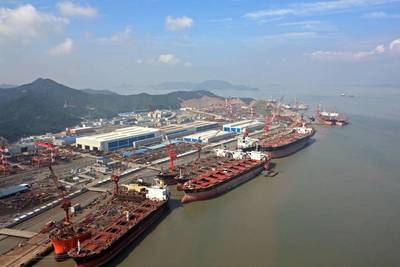 COSCO (Zhoushan) Shipyard: Image courtesy of COSCO