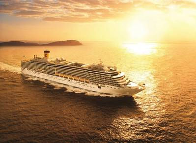 Costa Cruises is initially restarting sailing with two ships, Costa Deliziosa (pictured) and Costa Diadema, calling Italian ports. The one-week itineraries are being reserved exclusively for Italian guests. (Photo: Costa Cruises)