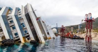 Costa wreck: Photo credit 'The Parbuckling Project'