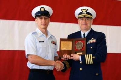 Coxwain of the Year Award: Photo credit USCG