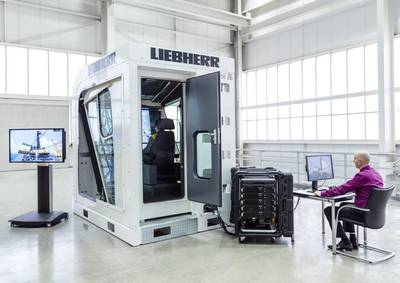 Crane Simulator: Photo credit Liebherr