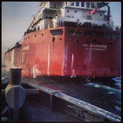 CSL Assiniboine: Photo credit Great Lakes Towing Co.