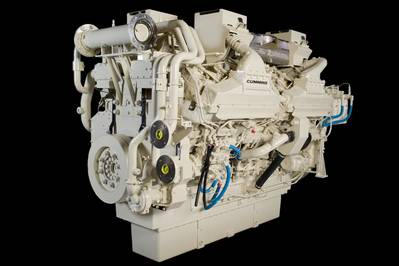 Cummins QSK60 Marine Engine: Photo credit Cummins