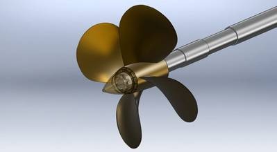 Cut: HydroComp Iowa Propeller Assembly