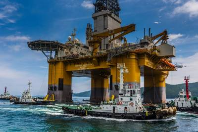 DAB on sea trials: Image Odfjell Drilling