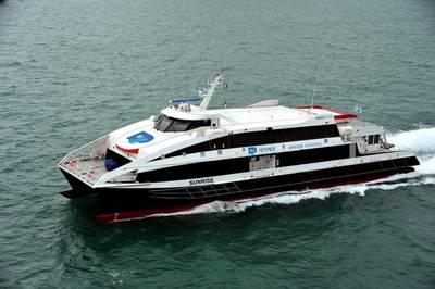 Damen Fast Ferry Daezer Shipping - Sunrise