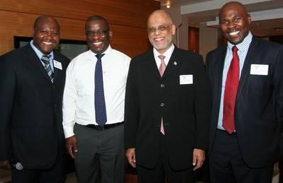 Daniel Ngubane (MBC), Commander Tsietsi Mokhele (SAMSA), Yusuf Omar (Department of Transport, representing the Minister of Transport, Ms Dipuo Peters) and Sobantu Tilayi  (SAMSA).
