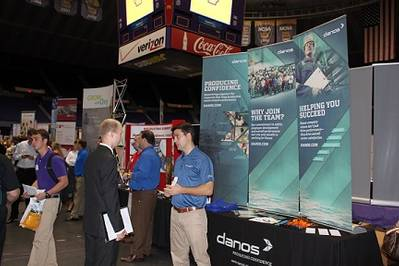 Danos at the LSU Career Expo in 2012