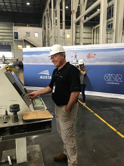Dave Growden - Director LCS Program - starting rounter for LCS 30 (Photo: Austal USA)