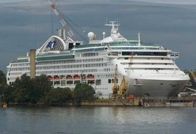'Dawn Princess' (pictured in drydock): Photo courtesy of Princess Cruises