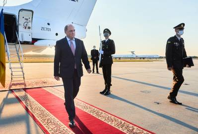 Defence Secretary Ben Wallace arrives in Ukraine (Photo: UK MoD)