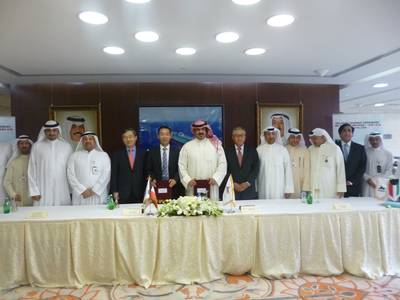 Delivery ceremony for the 31,445GT product tanker Mutriba