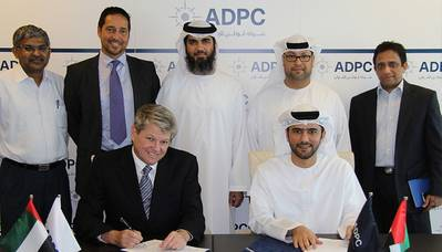 Delma Port signing ceremony: Photo credit ADPC