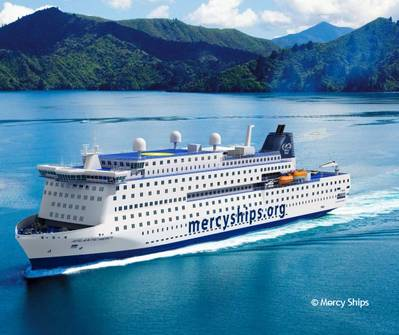 Deltamarin designs the world's largest hospital ship for Mercy Ships to be built at Tianjin Xingang Shipyard. (Image copyright: Mercy Ships)