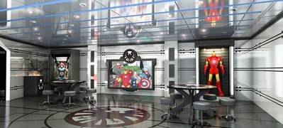 Disney Magic's Marvel Avengers: Image credit Disney Cruises