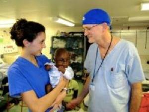 Dr. Gary Parker (right) & Daughter, Susan: Photo credit Mercy Ships