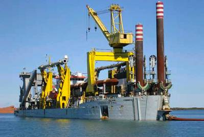 Dredger 'Leonardo da Vinci': Photo credit Jan De Nul Group