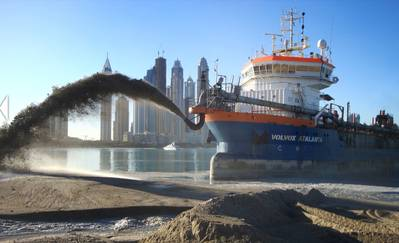 Dredging work: Image courtesy of Van Oord