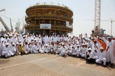 Drydocks World marks key milestone in completing the world's largest turret