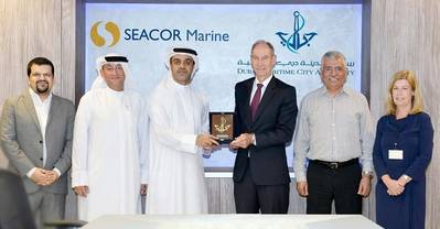 Dubai Maritime City Authority visits Seacor Marine to further reinforce local maritime sector in partnership with private sector. Photo: Dubai Maritime City Authority (DMCA)