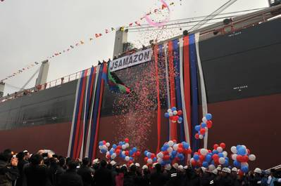 Earlier this year Bureau Veritas issued its first attestation of compliance with EEDI to the ultramax geared bulk carrier JS Amazon; the lead ship in a new generation of CROWN63 vessels developed by China's Sinopacific Shipbuilding Group with the bulk carrier expert Setaf-Saget.