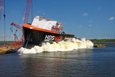 Eastern Shipbuilding launched HOS Black Watch for Hornbeck Offshore Services (Photo courtesy of Eastern Shipbuilding)