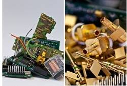 Electronic scrap: Photo courtesy of Boliden