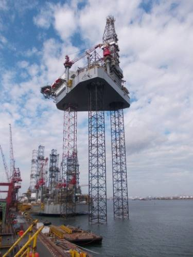 ENSCO 120 Series jack-up rig: Photo courtesy of the owners