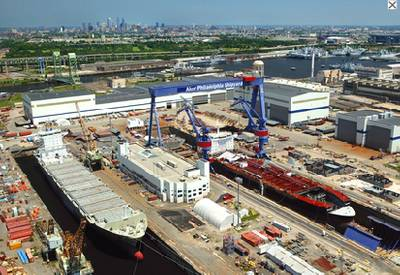 Aker Philadelphia Shipyard: Photo courtesy of APSI