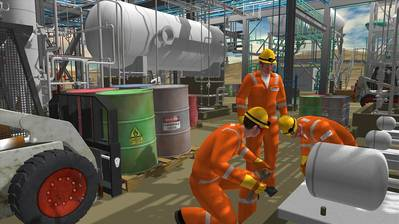 AVEVA showcases industrial gaming software.