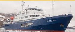 Expedition cruise ship 'Plancius': Photo courtesy of Oceanwide Expeditions